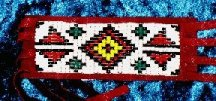 Native Flute Beaded Wrap
