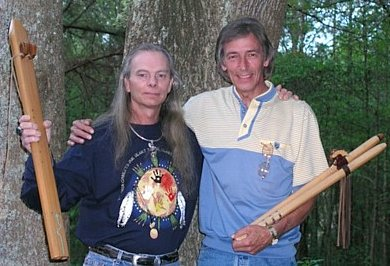 Charlie Wayne Watson - Native American Flute player & Vance Pennington - Waking Spirit Native style Flutes